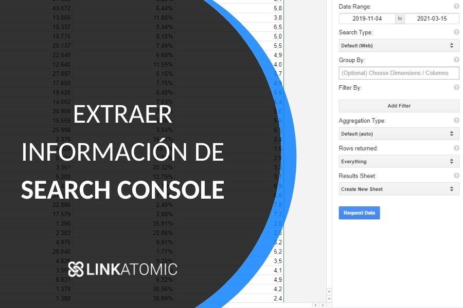 ¿Cómo exportar datos de Search Console de Google?