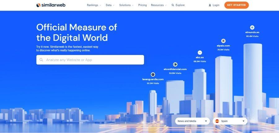 Plataforma SimilarWeb