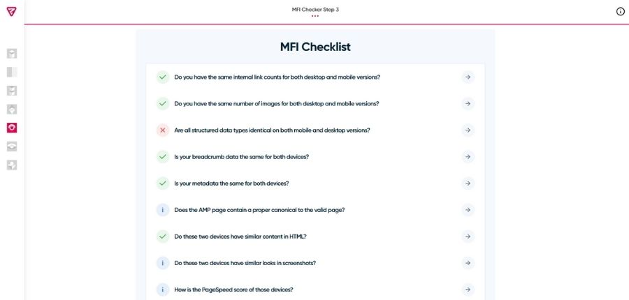 Herramienta Mobile First Index Checker