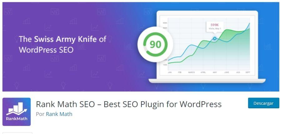 Plugin RankMath para WordPress