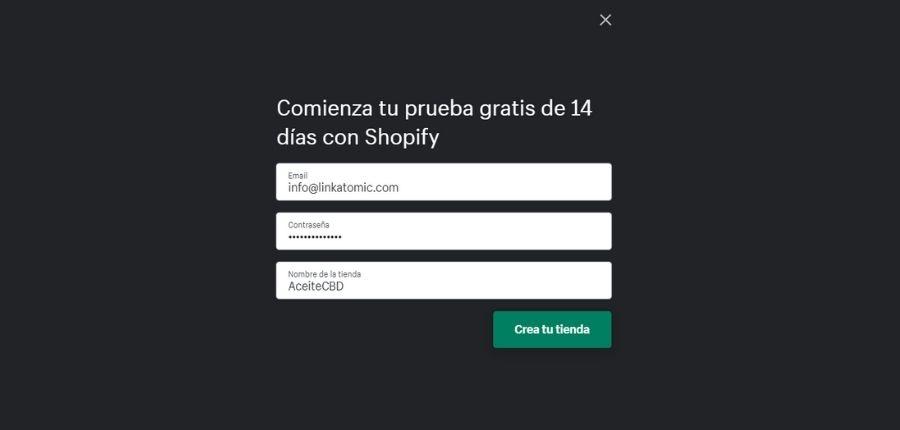 Prueba de Shopify gratuita