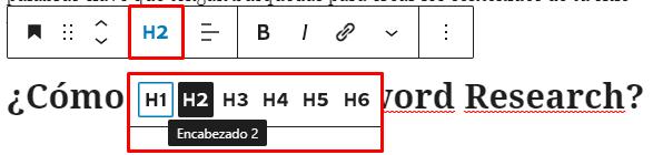 Añadir encabezados SEO en artículos