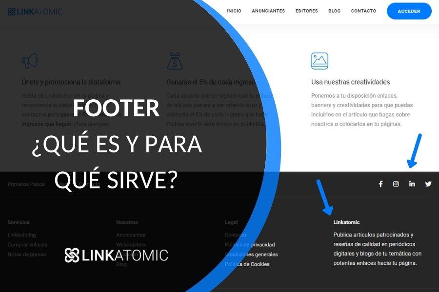 ¿Qué es el footer de una página web?