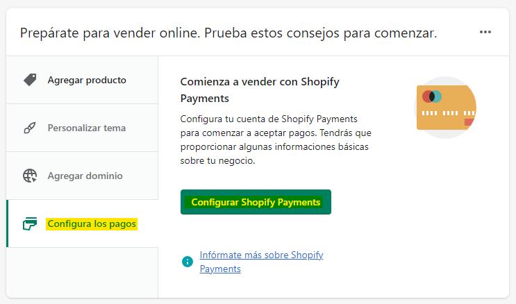 Configurar métodos de pago para tiendas online