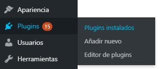 Número de plugins instalados en WordPress